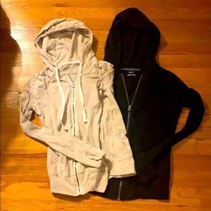 Aeropostale thin zip up hoodies